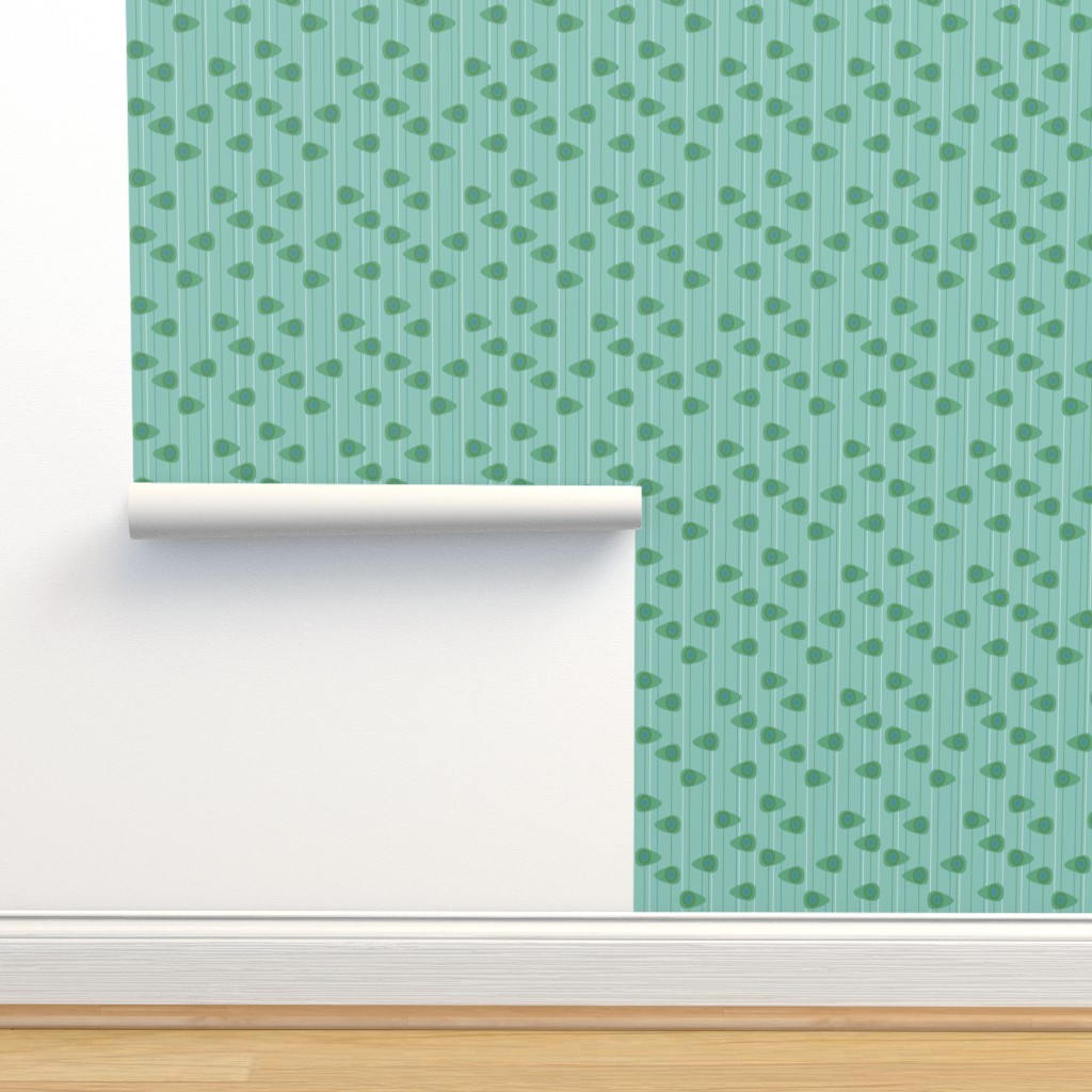 Isobar Durable Wallpaper featuring Cell-ular Lounge - aqua by designergal