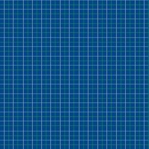 Animal Dream Otter_blue grid