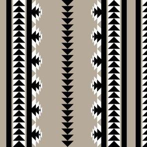aztec stripes - black & gray (rotated)
