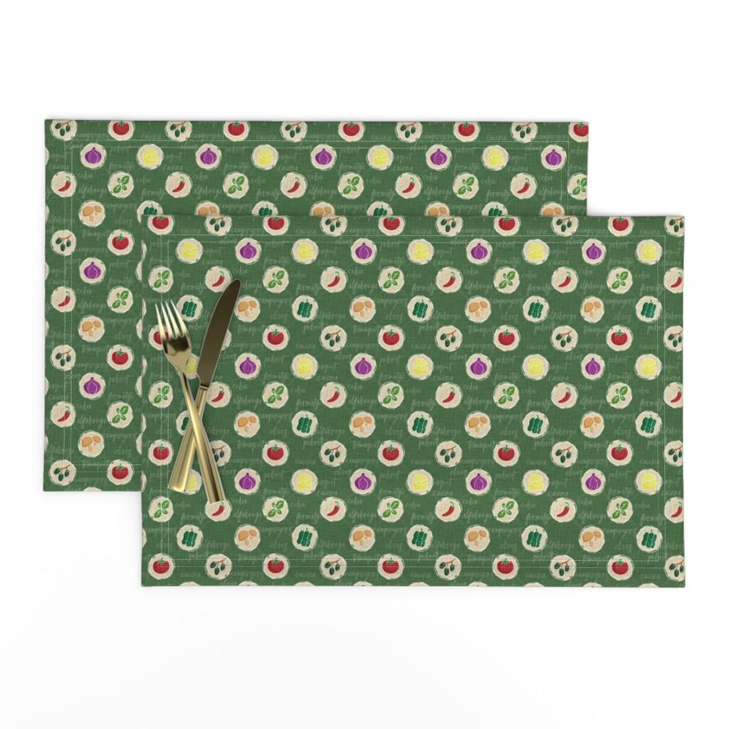Lamona Cloth Placemats featuring Deconstruction Pizza by mia_valdez