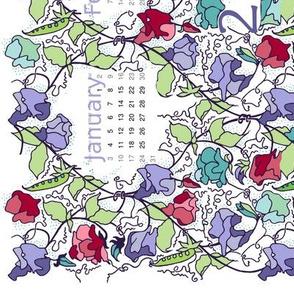 Sweet pea calendar 2016