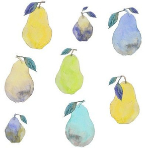 Pears in Watercolor