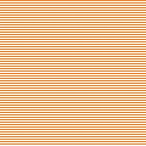 Tiny Stripes Bright Orange