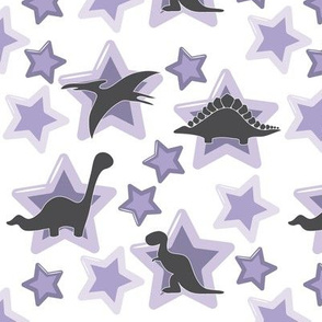 Baby dinos with lilac stars