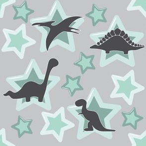Baby dinosaur in mint