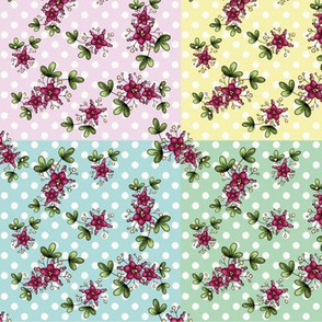 Quirky flowers quilt