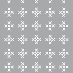 Light Gray Cross-stitch Pluses