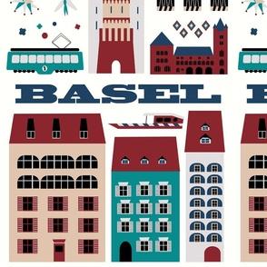 Basel tea towel