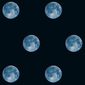 blue moon polkadot on dark navy