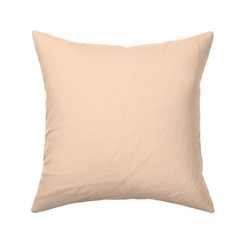 Peach White Pink And White Pale Throw Pillow Cover w Optional Insert by Roostery