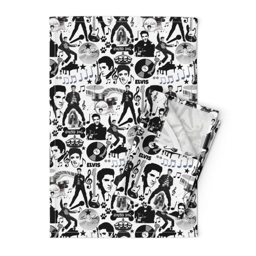 Orpington Tea Towels featuring HOUND DOG by bluevelvet