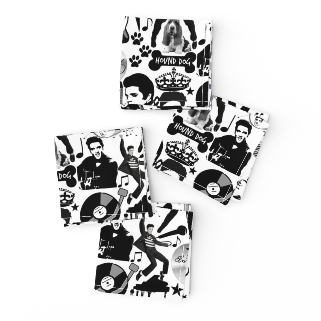 Frizzle Cocktail Napkins featuring HOUND DOG by bluevelvet