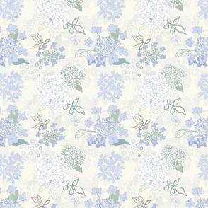 Textured Hydrangea, Cream