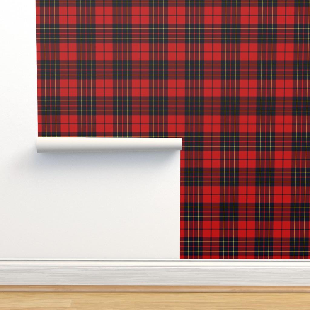 Isobar Durable Wallpaper featuring Brodie tartan by weavingmajor