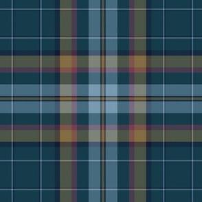 Cian / Carroll clan tartan, weathered