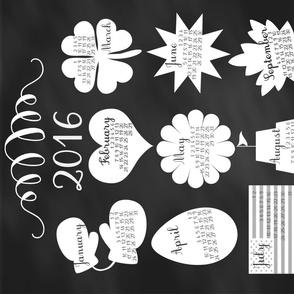 Chalkboard Tea Towel Calendar