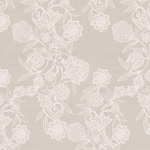 Handmade monochrome floral