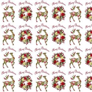 Wreath Reindeer Christmas Wrap