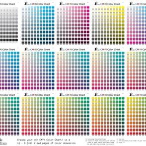 CMYK color chart part 1.2 - 1794 colors!