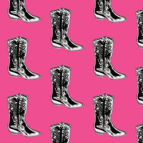 Boots (in fushia)