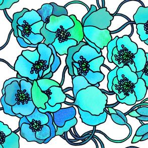 Turquoise poppies