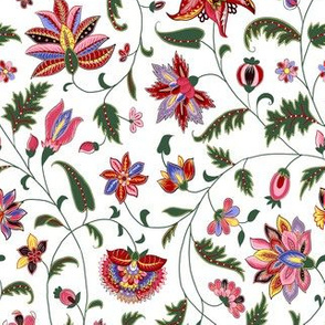 Colonial Twisting Vines and Flowers - Small Scales