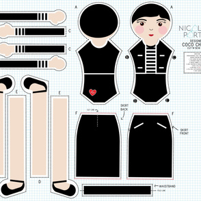 Coco Chanel Cut-and-Sew Doll