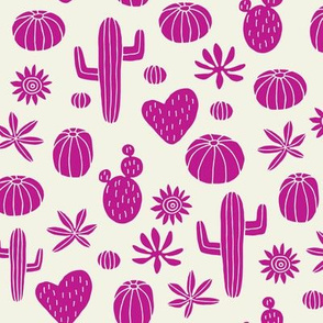 Llama cactus pink