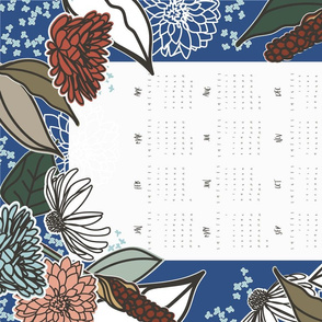 Vintage Farmhouse Tea Towel Calendar 2020