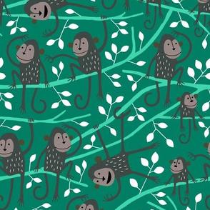 Monkey jungle tree green
