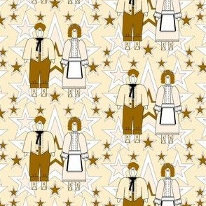 Baptist and Jael Primitive Fabric