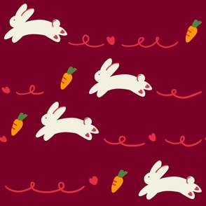 rabbits-deep red-large scale
