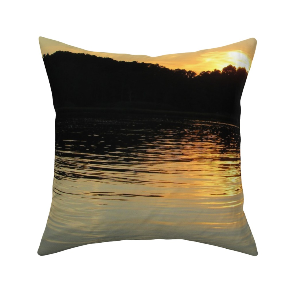 Catalan Throw Pillow featuring Back Bay Sunrise by kittykittypurrs