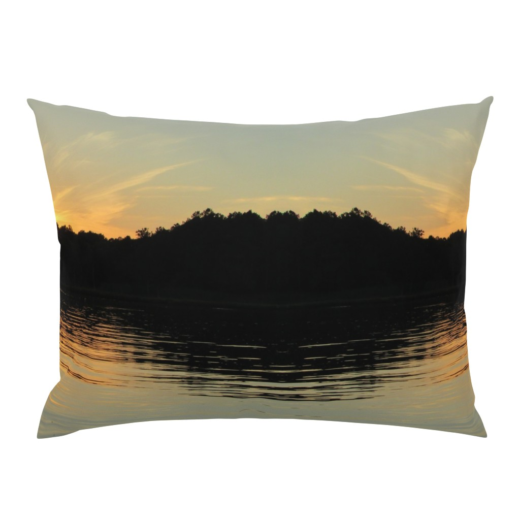Campine Pillow Sham featuring Back Bay Sunrise by kittykittypurrs