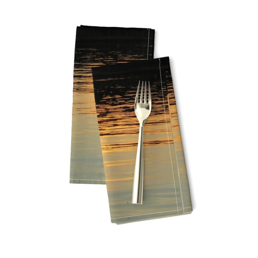 Amarela Dinner Napkins featuring Back Bay Sunrise by kittykittypurrs