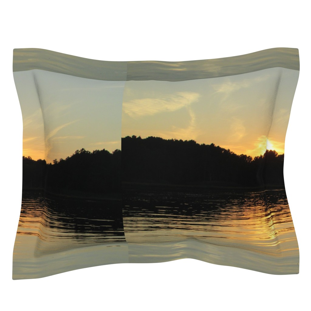 Sebright Pillow Sham featuring Back Bay Sunrise by kittykittypurrs