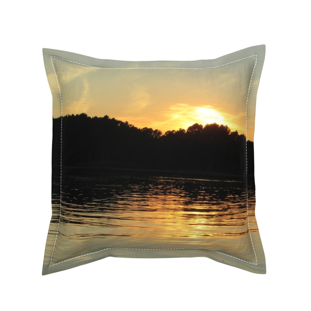 Serama Throw Pillow featuring Back Bay Sunrise by kittykittypurrs