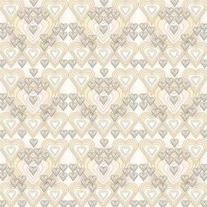 Hearts Custer Primitive Fabric