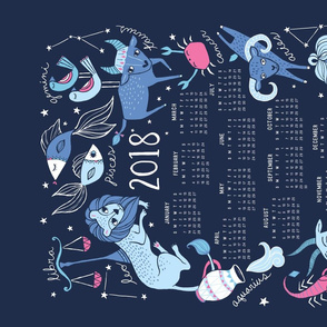 2016 Zodiac Tea Towel Calendar