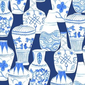 Chinese Vases Blue