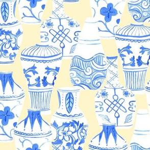 Chinese Vases (cream background)