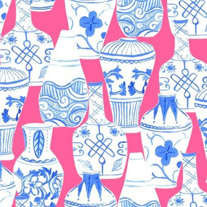 Chinese Vases (pink background)