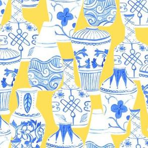 Chinese Vases (yellow background)