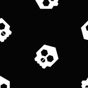 hex geometric halloween skull