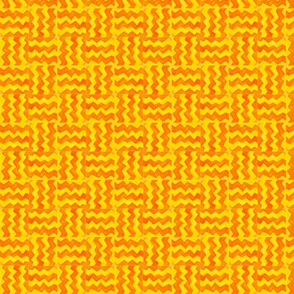 Zig Zag Yellow and Orange