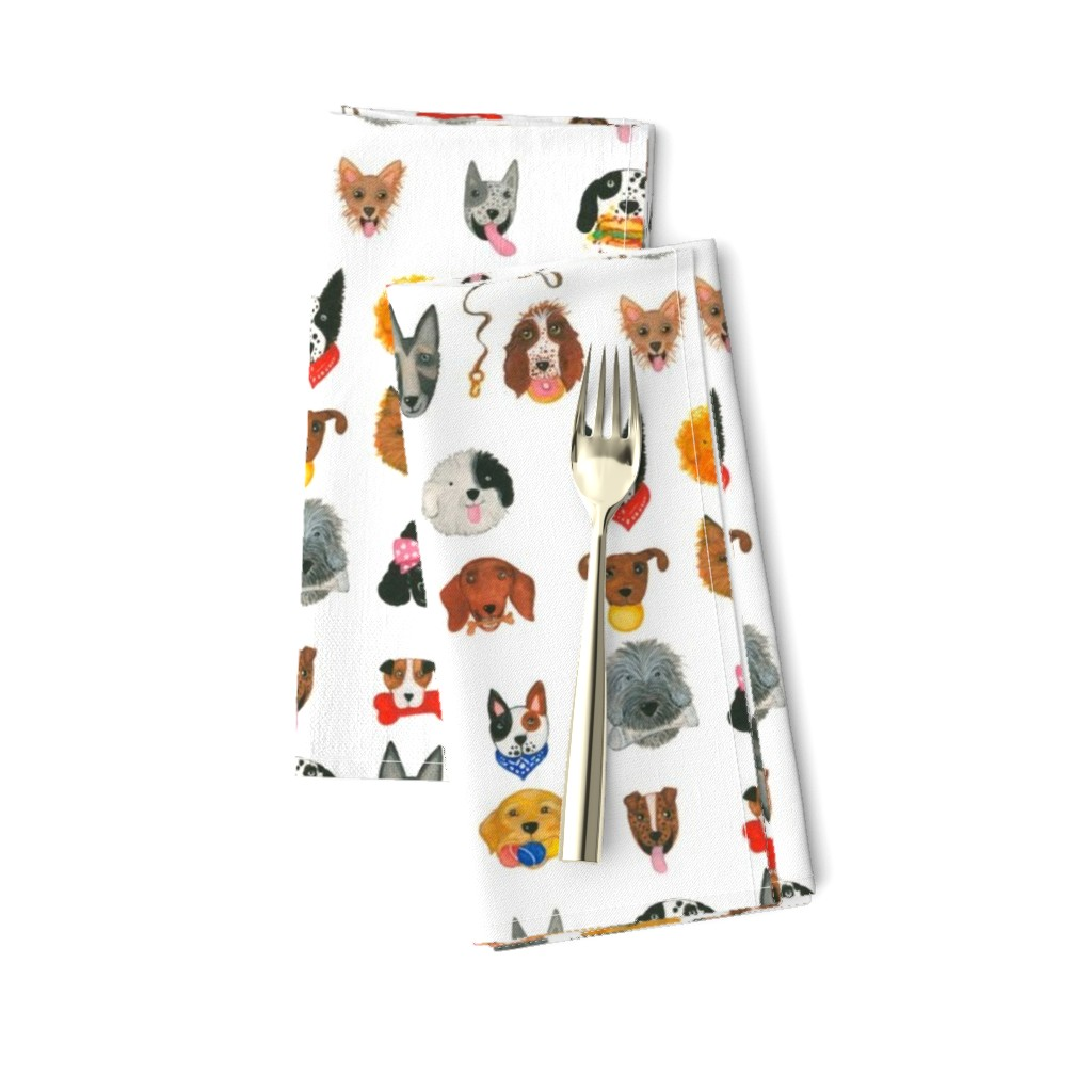 Amarela Dinner Napkins featuring Dogs by littleislandcompany