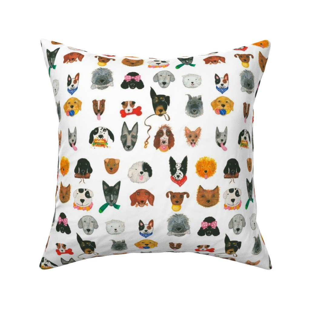 Catalan Throw Pillow featuring Dogs by littleislandcompany