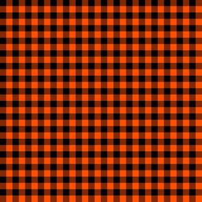 Halloween black and orange gingham
