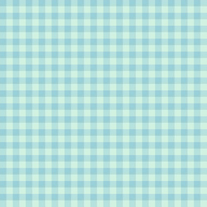 blue mint gingham