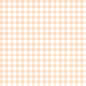 pale peach gingham